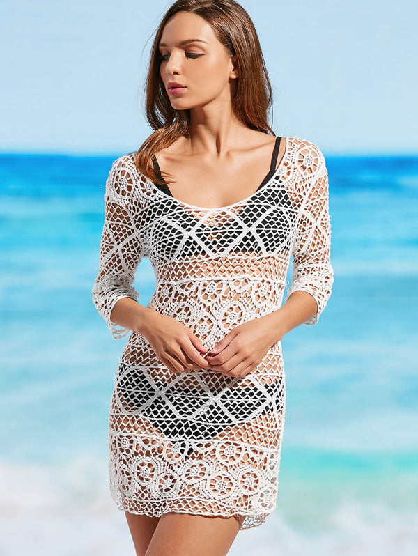 Scoop Crochet Cover Up Dress