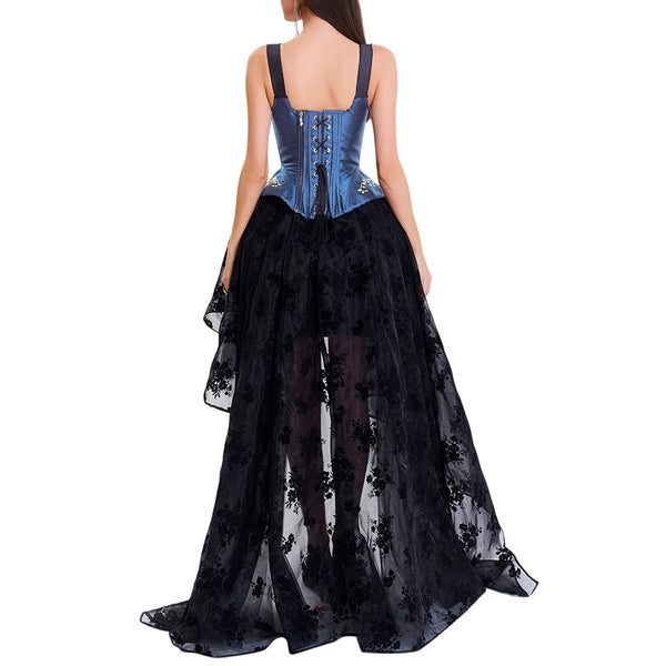 High Low Two Piece Prom Corset Dress