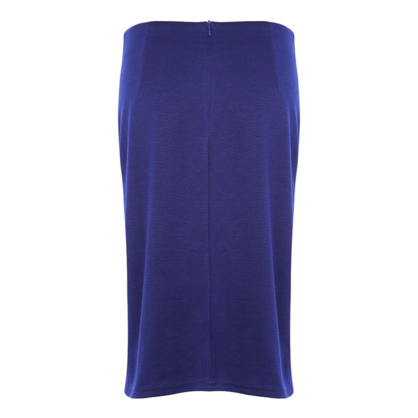 Elegant High Waist Slit Ruched Bodycon Women Pencil Skirt