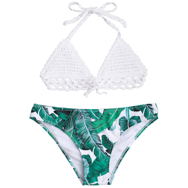 Crochet Bralette Palm Tree Bikini