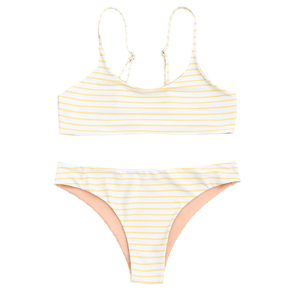 Striped Cami Bralette Bikini Set