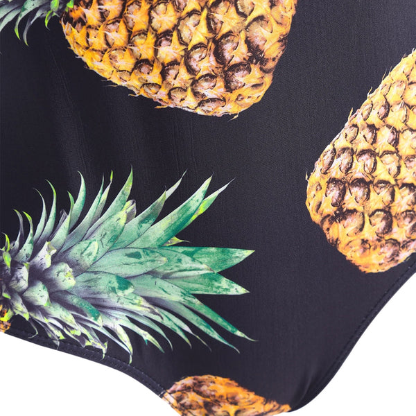 Pineapple Print Plus Size One Piece Swimsuit