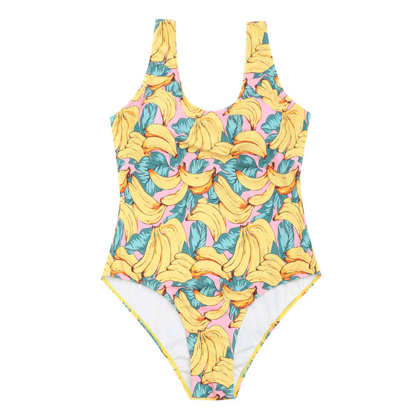 Banana Print Plus Size swimwear