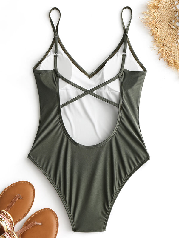 High Cut Criss-cross Swimsuit