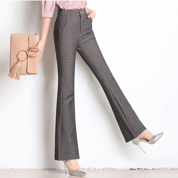 Large size high waist slim loose large size slim trousers