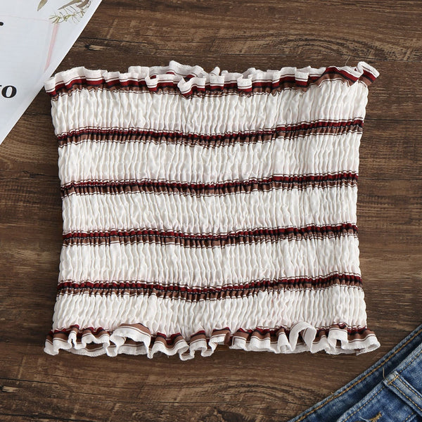 Stripes Smocked Tube Top