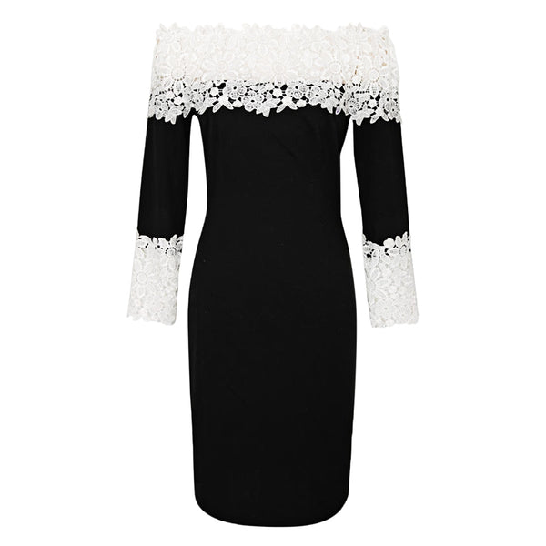 Sexy A-line Lace Bodycon Long Sleeve Dress