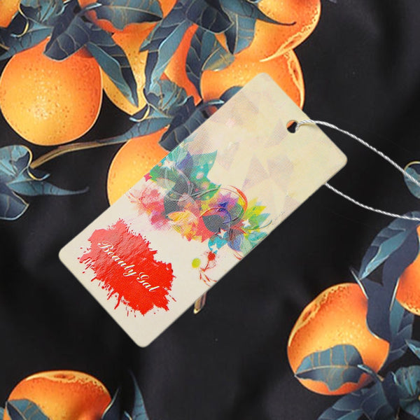 Orange Print Crop Top Swimsuit