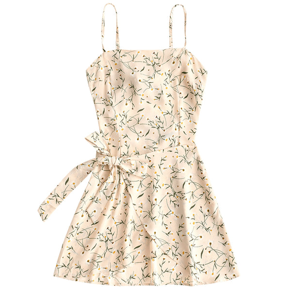 Bowknot Cut Out Tiered Mini Dress