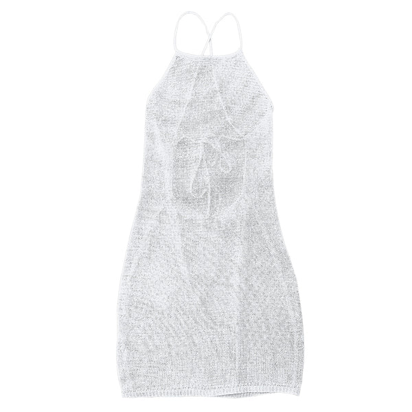Strappy Open Knit Beach Cover Up Dress
