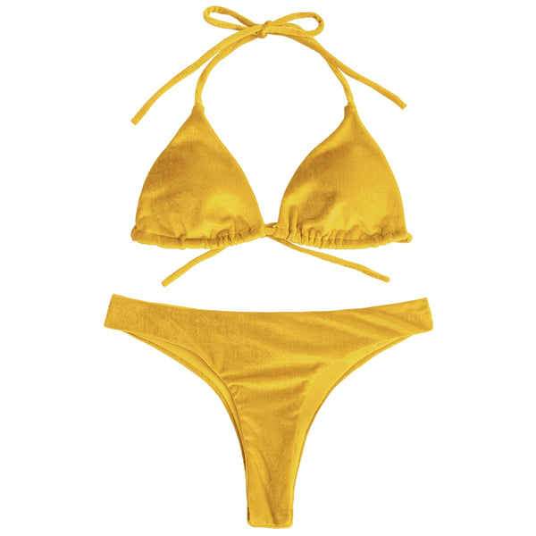 Velvet High Cut Bathing Suit