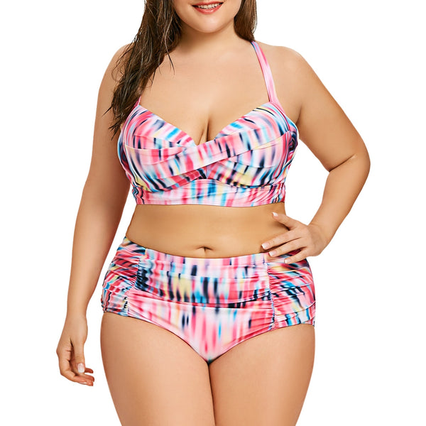 Moulded Plus Size High Rise Midkini Swimsuit