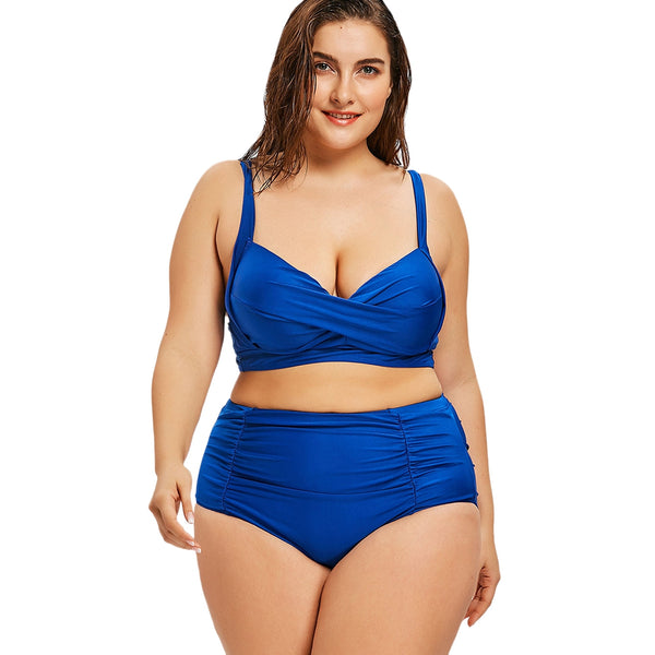 Moulded Plus Size Twist High Rise Bikini