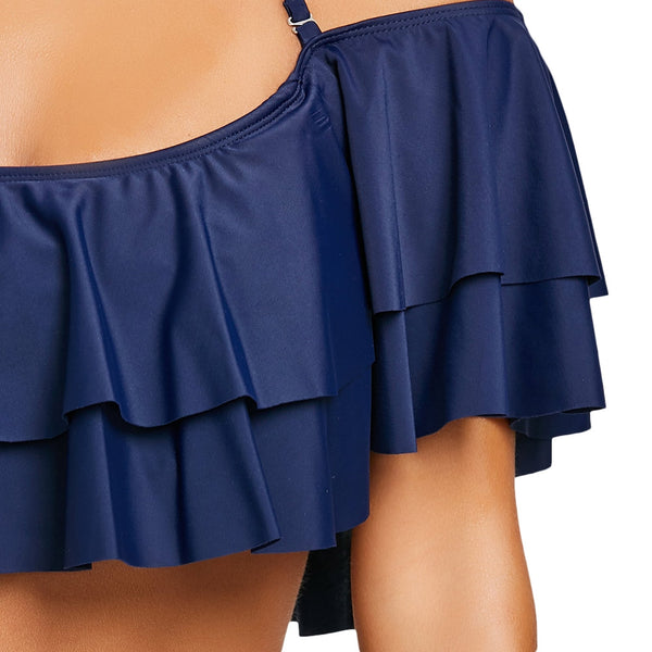 Tier Flounce High Waisted Swimsuit