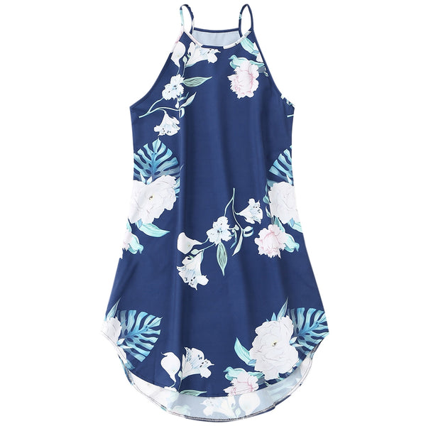 Beach Tropical Floral Mini Dress