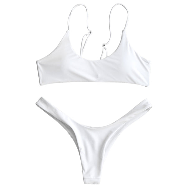Pads High Cut Thong Bikini Set