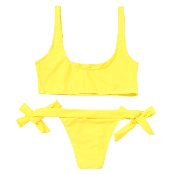 Unlined Tied Bikini Set