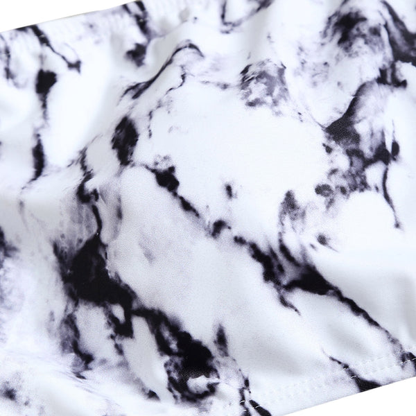 Marble Tie Dye High Waisted Bikini