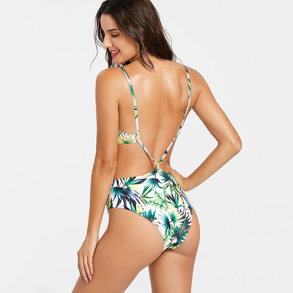 Tropical One Piece Printed Swimsuit