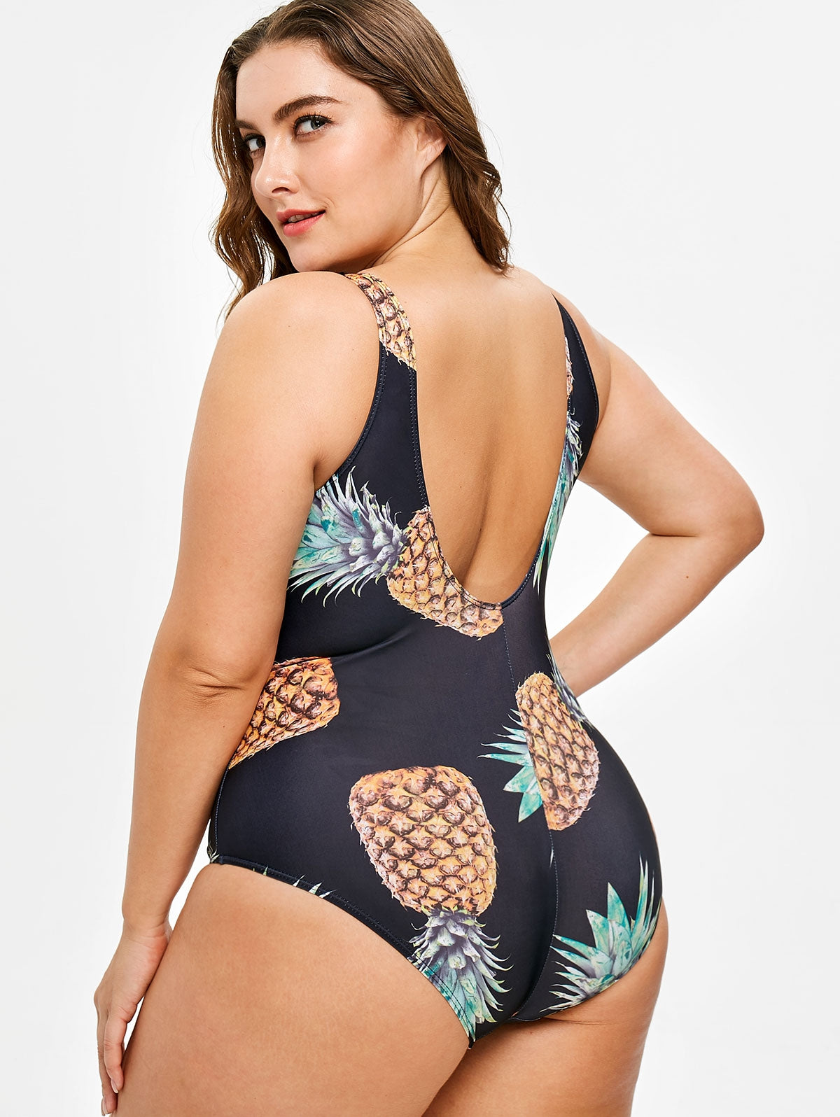 74e6a7f49b856 Plus Size Pineapple Swimsuit