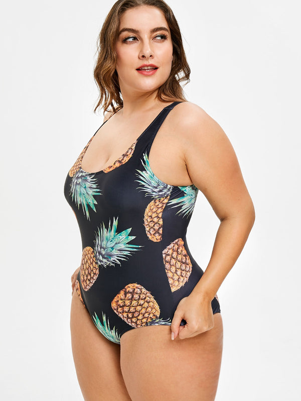 Plus Size Pineapple Swimsuit