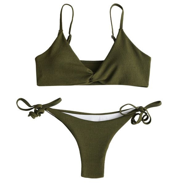 Twist Tie Side Bikini Set