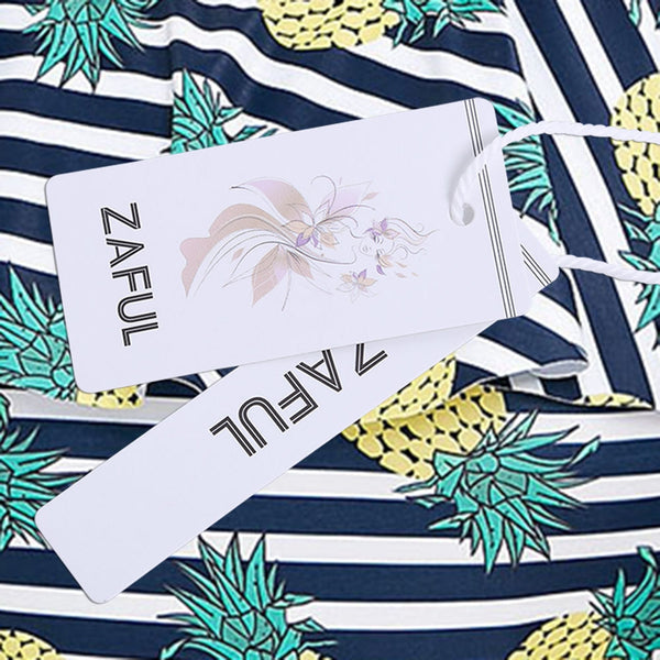 One Piece Plus Size Pineapple Printed Swimwear