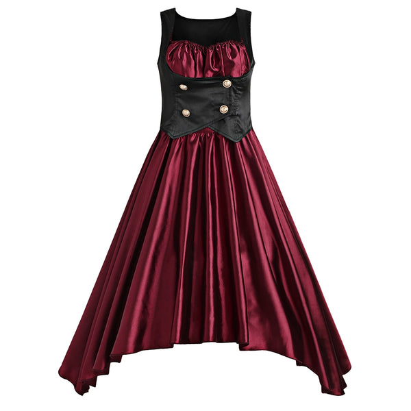 Asymmetrical Lolita Corset Waist Vintage Dress