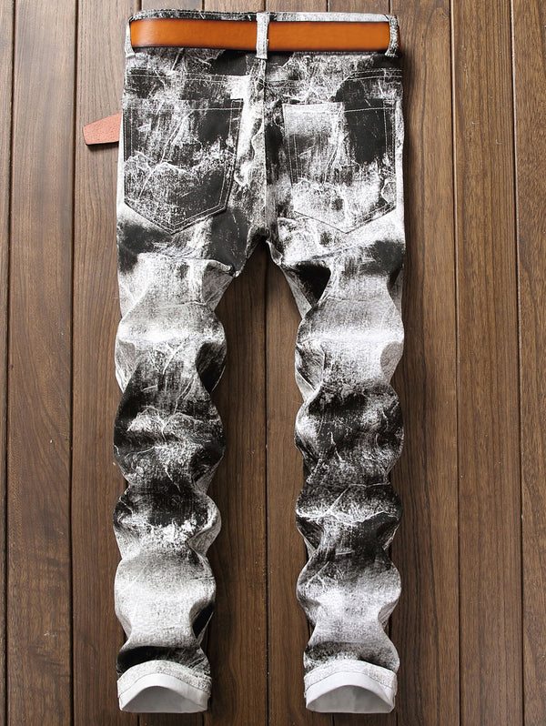 Tie Dye Narrow Feet Jeans
