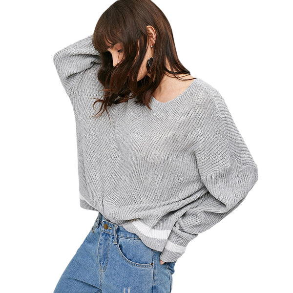Drop Shoulder Pullover Sweater