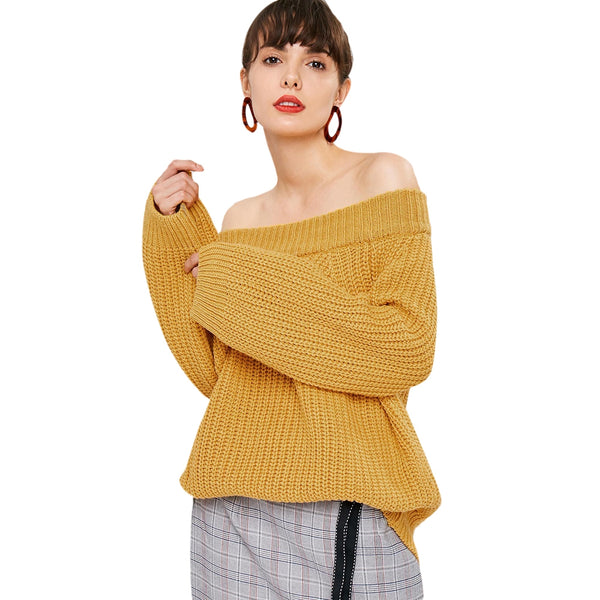 Chunky Knit Plain Sweater