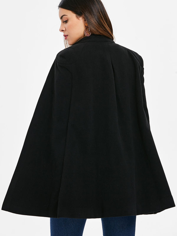 Double Breasted Cape Coat