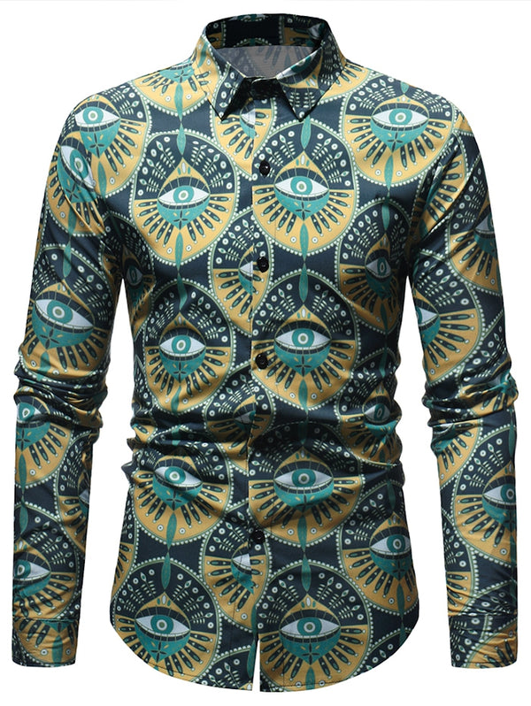 Eyes Pattern Long Sleeve Shirt