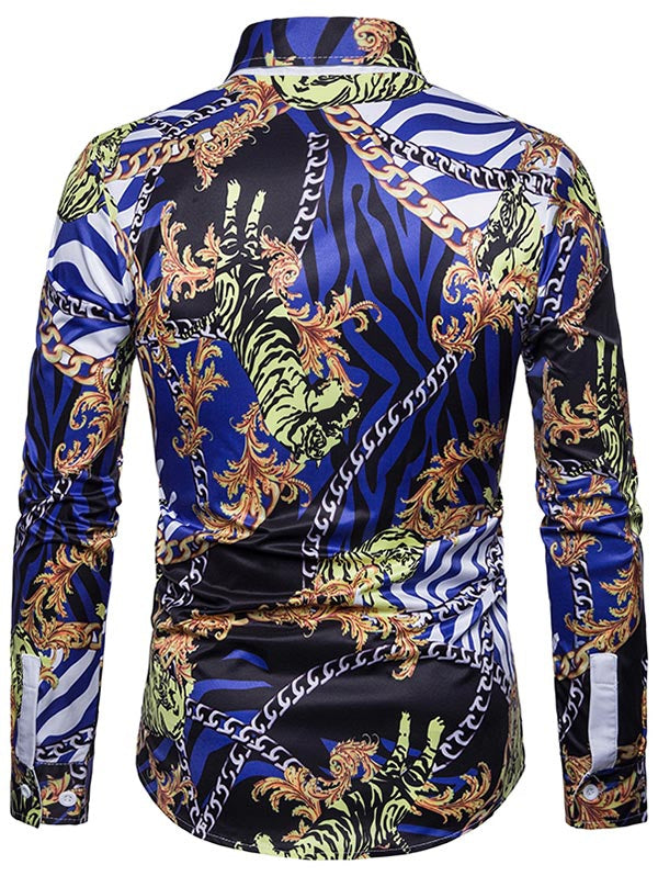 Chain Digital Printing Long Sleeve Shirt