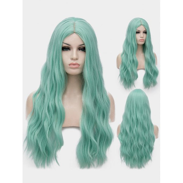 Middle Part Long Natural Wavy Anime Lolita Synthetic Wig