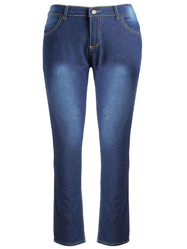 High Rise Plus Size Bodycon Jeans