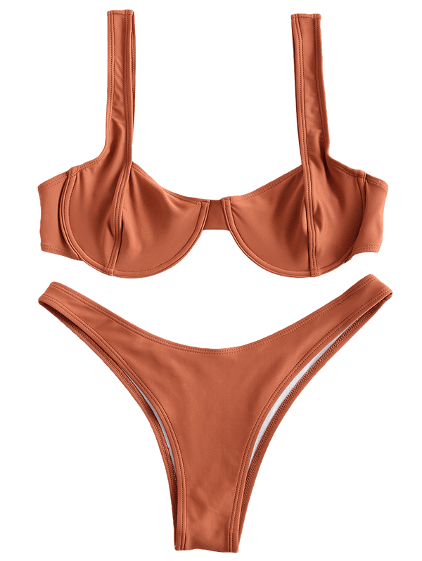 High Cut Underwire Bikini Set