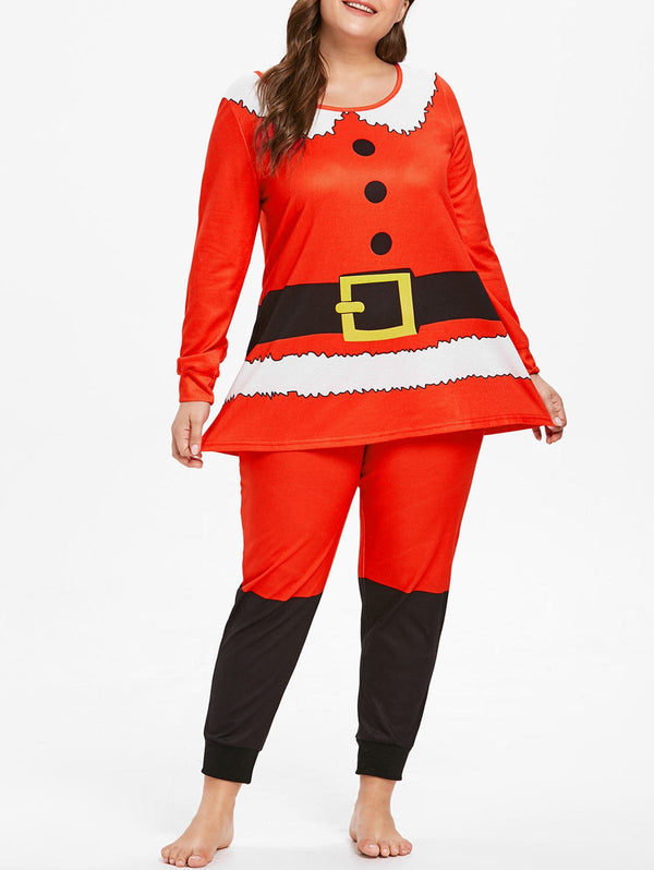 Plus Size Christmas Pajama Set