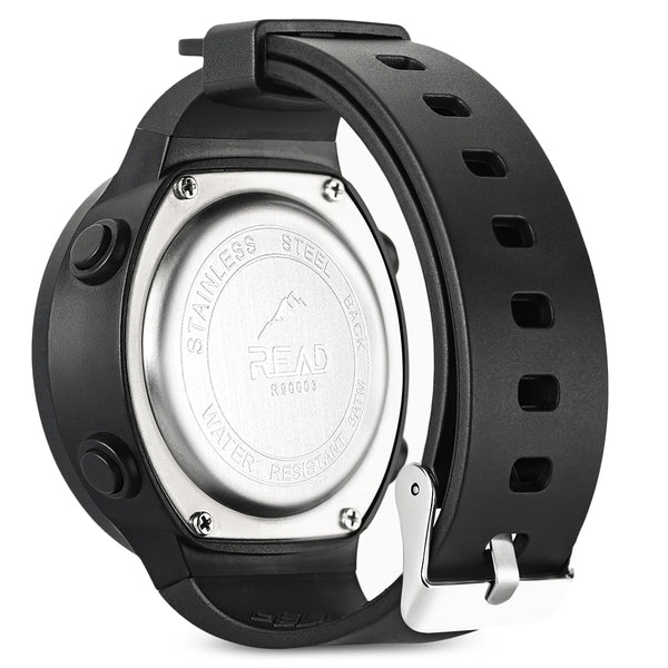 READ R90003 Male Digital Movement Watch Resin Strap Luminous Sports Wristwatch