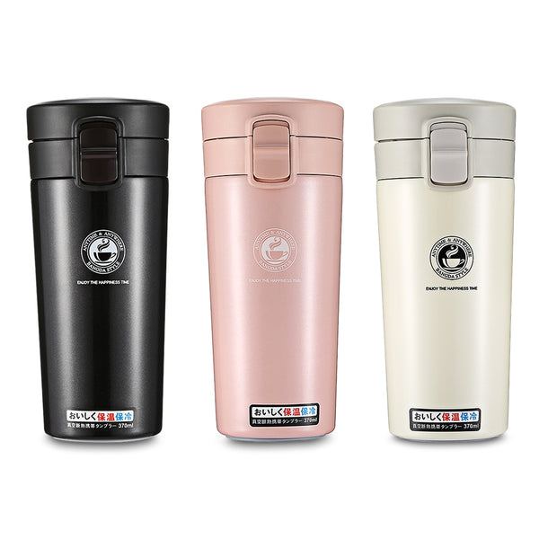 Portable Stainless Steel Student Insulated Vacuum Coffee Bottle 370ml Hand Cup