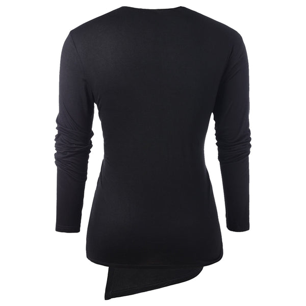 Long Sleeve Faux Twinset T-shirt