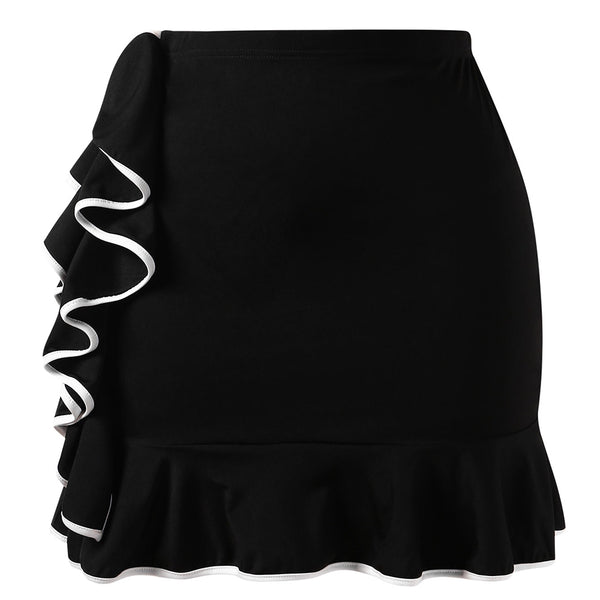 Plus Size Frilled Contrast Mini Skirt