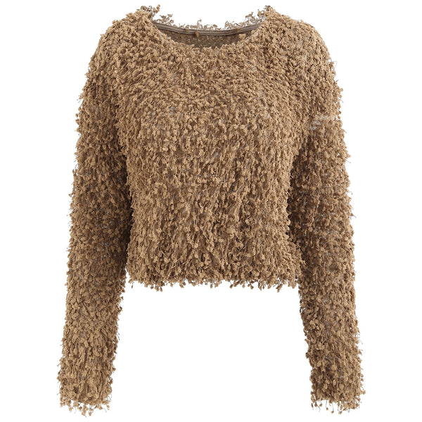 Full Sleeve Fuzzy Pullover Sweater