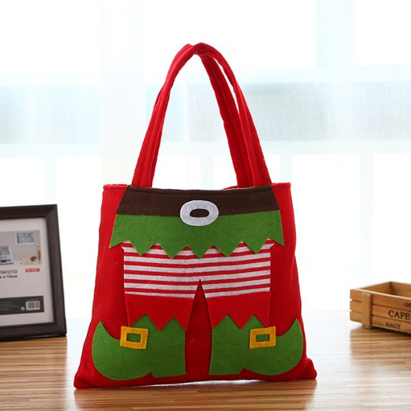 Christmas Decorations Pants Candy Restaurant Wine Bag