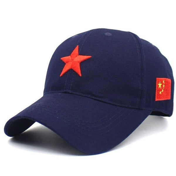 Cartoon Chinese flag baseball cap adjustable