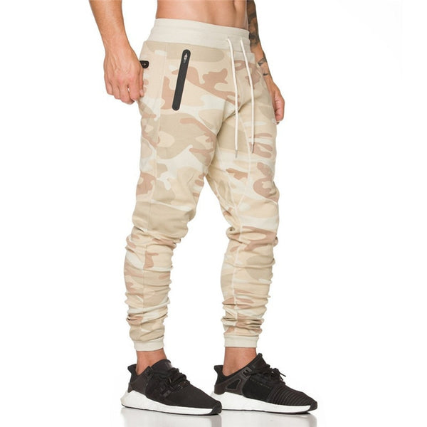 Cotton Fitness Camouflage Casual Fashion Tight Pants