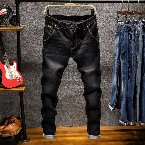 Fashion stretch casual tight men's jeans