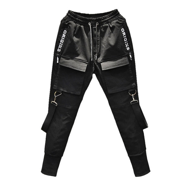 Fashion hip hop harem pants multi-pocket pencil pants