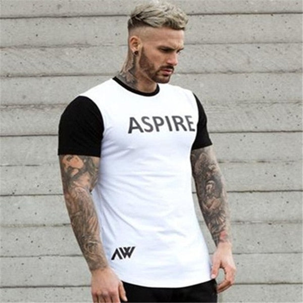 Casual fashion slim cotton O-neck T-shirt