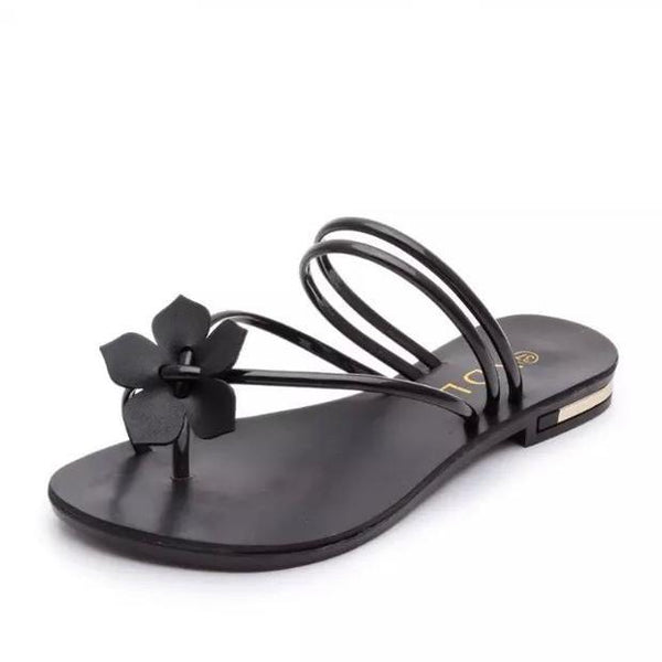 Fashion sweet flat strap women's sandals
